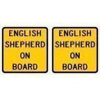 English Shepherd On Board Sticker 2 Pack